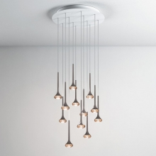 Подвесной светильник AXO Light Fairy SPFAIR12AMNILED Ambra, Amber Bianco+Nickel Opaco, White+Matt Nickel LED 2700K