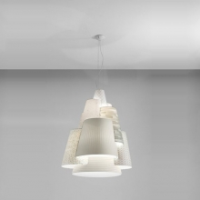 Подвесной светильник AXO Light Melting Pot SPMEL120BCXXE27 Interno Bianco, Light Patterns Outside White Inside White Vanished