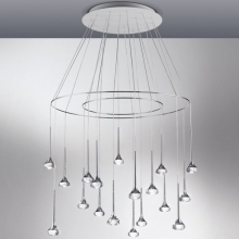 Подвесной светильник AXO Light Fairy SPFAIR18CSCRLED Cristallo, Crystal Bianco+Cromo, White+Chrome LED 2700K