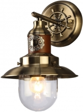 Бра Arte Lamp Sailor A4524AP-1AB бронза прозрачный плафон