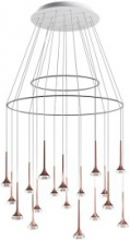 Подвесной светильник AXO Light Fairy SPFAIR18CSBRLED Cristallo, Crystal Bianco+Bronzo Opaco, White+Matt Bronze LED 2700K